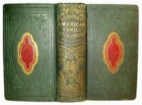 ANTIQUE COOKBOOK OLD HOUSE HOME DECOR 1856 WINE SPIRITS CARRIAGE FURNITURE LAMP