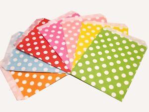 25 / 50x Polka Dot Sweet Favours Party Paper Bags Birthday Wedding Retro Vintage