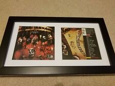 SLIPKNOT BAND SIGNED AUTOGRAPH FRAMED DISPLAY Corey Taylor Paul Gray #A