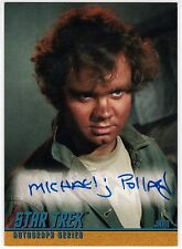 STAR TREK TOS A24 MICHAEL J. POLLARD AS JAHN AUTOGRAPHED CARD SKYBOX 1997