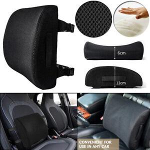 Memory Foam Car Seat Cushion Pillow Waist Lumbar Back Rest Support Pain Relief
