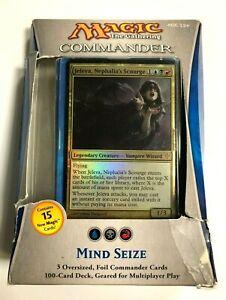 MIND SEIZE Commander 2013 Deck EDH MTG Factory Sealed - Damaged Box