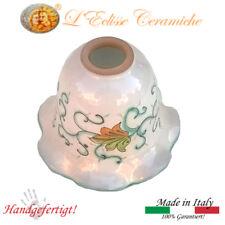 WALL LÁMPARA EN VIETRI KERAMIK DEKORIERTE MANO VERDE FLORAL Made IN Italy