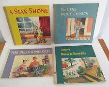 Lot of 4 Westminster Press CHRISTIAN FAITH & LIFE Children's Books circa 1950
