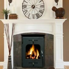 Heritage Kylemore Inset 18Kw Room Heater Wood Burning Boiler Stove Matt Black