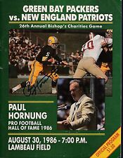 Paul Hornung signed 1986 Green Bay Packers 26th Annual Bishops Charities Game