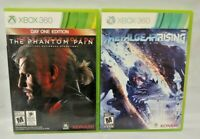 Metal Gear Rising + V 5 Phantom Pain - XBOX 360 Games Lot Complete Tested Konami