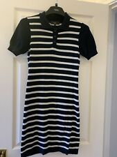Ladies Mext , Size 10 Navy And White Stripe Casual Dress