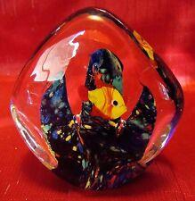 Vintage - Art Glass - Fish Aquarium - Paperweight - Multi-Colored Coral - Fish