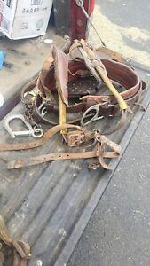 Vintage Bashlin Climbing D24 Belt Gaffs/Spikes More