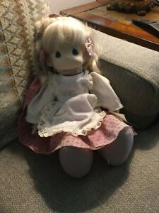 """Precious Moments Patti Doll """"Love Is Caring"""" Porcelain and Cloth - 1985"""