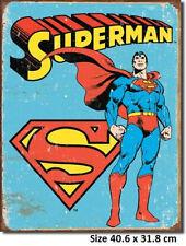 Superman - Retro - Rustic  Metal Tin Sign 1335 - Licensed To Marvel Comics