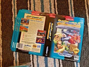 BOX ART ONLY Street Fighter 2 II Special Original Sega Genesis Case Sleeve OEM