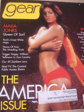 2000 Gear Malia Jones sexy cover + Susan Ward + Bra Wars HOT