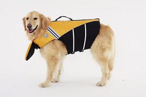 Dog Life Jacket With Chin Float Smaller Sizes Yellow Sierra Dog Supply Unisex
