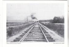 "*Postcard-""Train Approaching Town"" at *Pocomoke City, MD  (#146)"