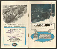 DAYTON OHIO USA GROUPE ELECTROGENE DELCO-LIGHT BROCHURE PUBLICITAIRE ANNEES 30