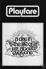 Earl Wilson, Jr. Playbill FLOP A Day in The Life... '71