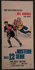 Locandina IL MISTERO DELLE 12 SEDIE 1°ED.ITAL.1975 MEL BROOKS, FRANK LANGELLA