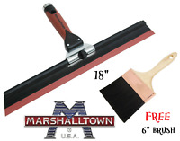 "Marshalltown 18"" Adjustable Pitch Squeegee Trowel - Plastering SQUEEG FREE BRUSH"