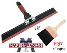 "Marshalltown 18"" Adjustable Pitch Squeegee Trowel - Plastering SQUEEG FREE BRUSH"