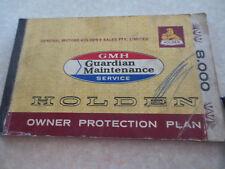 Original 1969 HK Holden owner protection plan booklet