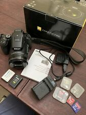 Nikon COOLPIX P900 16MP- Black w multiple memory cards, two chargers two battery