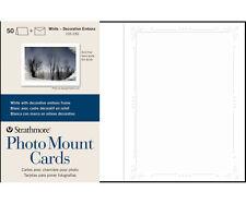 Strathmore Photomount Cards Deco White Pk/50