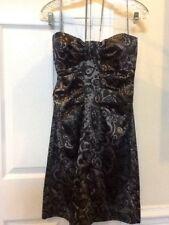 4b90bb09d64cb NEW Ladies Size 6 MAXANDCLEO Black & Silver Satin Strapless Dress