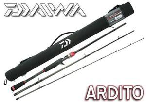 Daiwa Ardito 3 Piece Travel Rod & Case Spinning or Casting - Choose Model