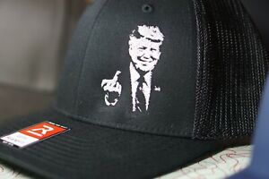 Custom Embroidered Trump Middle Finger Hat FLEXFIT Maga Pence Biden Cry Again