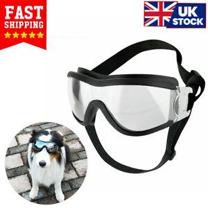 Dog Sunglasses Windproof Goggles Pet Eyes Wear Protection Anti-UV Sun Glasses UK