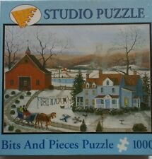"""Out of print Bits and Pieces Puzzle Snow Angels By Mary Ann Vessey 20""""x 27"""""""