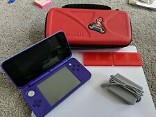 Nintendo 2DS XL Purple & Silver Handheld Console W/Charger and Case  Tested!