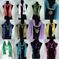US SELLER-10 pcs  wholesale pendant scarves jewelry scarf bulk gift for women