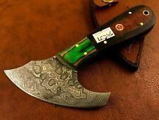 Handmade Damascus Steel Saddler-Skiver-Leather Cutter-Leather Sheath-LC246
