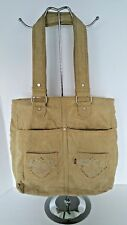 LEVI'S Tan Corduroy Red Label Shoulder Bag Tote Rhinestones Vintage LEVI'S