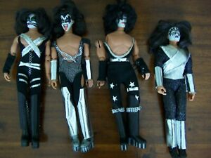 Set of 4 Kiss dolls Vintage -Dolls Mego 1977