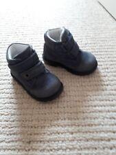 Baby boy's blue suede boots. Size 21/ 4.5(U.K.)