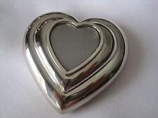 Estate Silver-Tone Heart-Shaped Compact