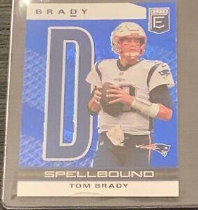"2020 Donruss Elite Tom Brady ""D"" Spellbound Patriots Buccaneers Panini 9/10"
