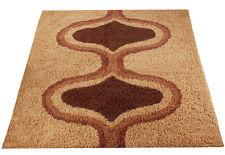 Mid Century Danish Modern Rya Style Shag Rug / Scandinavian Carpet Eames (8X10)