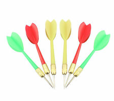 6PCS Colors Plastic Wing Darts Needle DartS Board Tone Steel Brass Throwing Tip