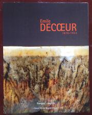 Livre: EMILE DECOEUR 1876-1953 ( céramique, grès, Art Nouveau, Edmond Lachenal )