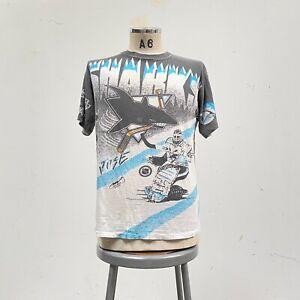 Vintage 1991 San Jose Sharks All Over Print Tshirt AOP