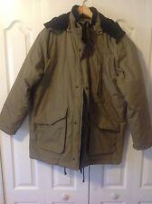 Irvine Park Men's Cold Snow Coat Khaki Winter Jacket Hoddie Size: Large