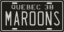 Montreal Moroons Hockey 1938 Quebec License Plate
