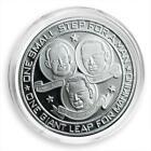 Moon Landing Silver Plated Coin, Apollo 11, Neil Armstrong, Space, NASA, Token
