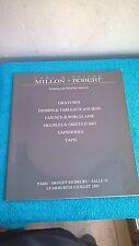 Catalogue vente Drouot Millon & Robert Tableaux art Ameublement 04/07/1990