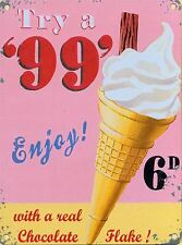 New 50x70cm Flake 99 Ice Cream retro extra large jumbo metal advertising sign